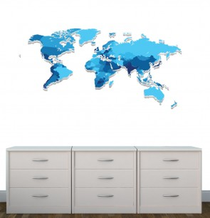 Childrens Bedroom Murals With World Map Decals For Children