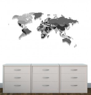 Large Wall Stickers With World Map Wall Decals For Nursery