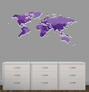 Wall Stickers Giant With World Map Wall Decor For Nursery or Baby Room