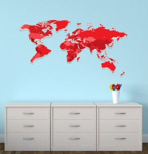 Reusable Wall Decals With World Map Wall Stickers For Children