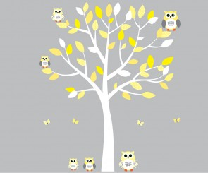 Owl Stickers and Owl Wall Art for Kids, Nursery, or Baby Rooms