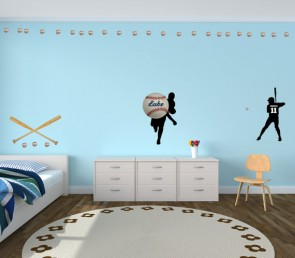 Custom Baseball and Nursery Wall Decals Names For Boys Bedrooms