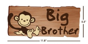 Big Brother Door Decals with Monkey Wall Stickers For Boys Rooms