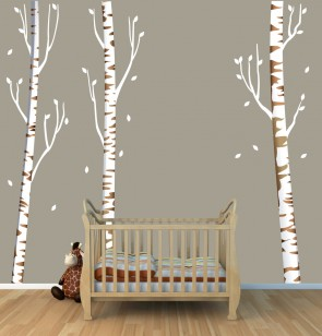 Tree Decals With Birch Trees For Kids