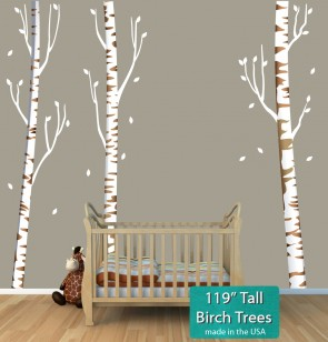 Birch Tree Branch Wall Decal For Play Rooms