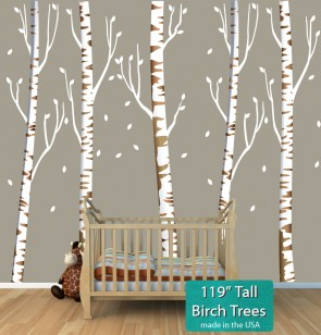 Birch Tree Murals For Nursery Or Baby Room