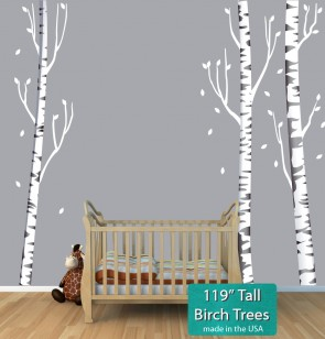 Birch Tree Stickers and Tree Decals For Children