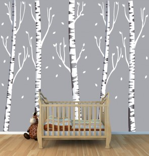 Birch Tree Wall Decals For Children