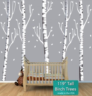 Birch Stickers Tree For Nursery Or Baby Room