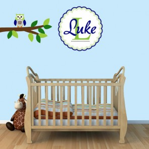 Custom Nursery Wall Decals Names With Owl Stickers For Boys