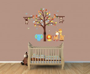 Stickers Jungle,Safari Wall Art With Monkey Sticker For Play Rooms
