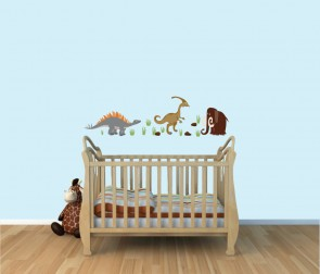 Childrens Bedroom Murals With Dinosaur Decals For Children