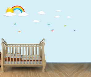 Children's Bedroom Wall Stickers With Rainbow Wall Stickers For Kids