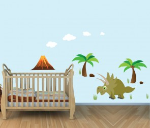 Removable Wall Art Stickers With Dinosaur Wall Decals For Boys