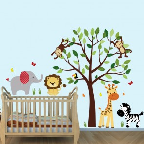 Green Safari Wall Stickers W`ant Decals For Boys Bedrooms