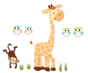 Giant Giraffe Wall Decor For Play Rooms