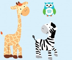 Custom Zebra Wall Decals And Owl Wall Stickers For Kids