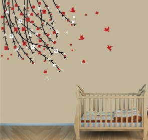 Flowering Branch Wall Decals For Kids