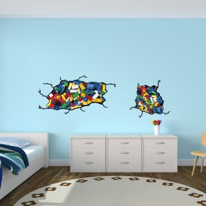 Kids Wall Stickers For Bedrooms With Lego Wall Decals For Kids Rooms Part 45