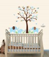 Mini Little Boy Blue Elephant Tree Wall Stickers