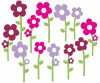 12 Flowers - Wall Stickers