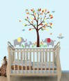 Mini Color Me Happy Elephant Tree Wall Stickers