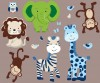 Expedition - Green Envy - Animals Only - Wall Decal