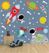 Space Scene for Dark Colored Walls Space Decals