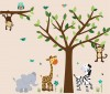 Wild Animals - Safari Evergreen - Jungle Tree Wall Decals