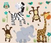 Wild Animals - Safari Evergreen - Animal Wall Decals