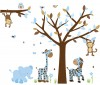 Wild Animals - Little Boy Blue - Jungle Tree Wall Decals