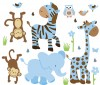 Wild Animals - Little Boy Blue - Animal Wall Decals