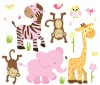 Wild Animals - Peachy Pink - Animal Wall Decals