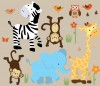 Wild Animals - Safari Happy - Animal Wall Decals