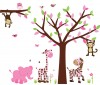 Wild Animals - Safari Spring - Jungle Tree Wall Decals