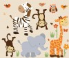 Wild Animals - Safari Sunset - Animal Wall Decals