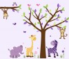 Wild Animals - Wild About Purple - Jungle Tree Wall Decals