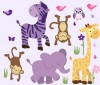 Wild Animals - Wild About Purple - Animal Wall Decals