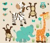 Wild Animals - Wild About Teal - Animal Wall Decals
