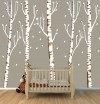 Five Brown Birch Tree Decals - Gradient