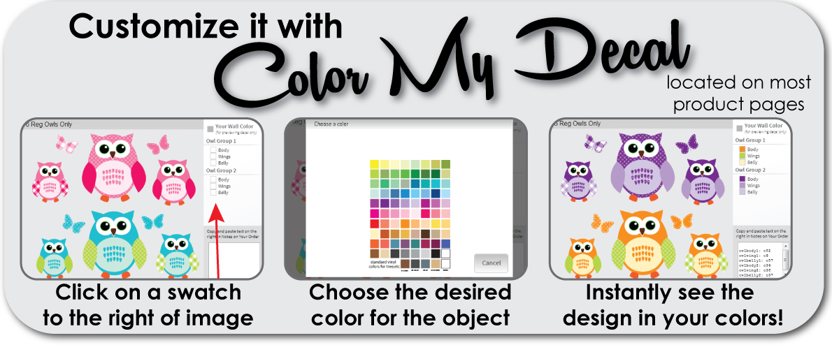 Customize with Color My Decal