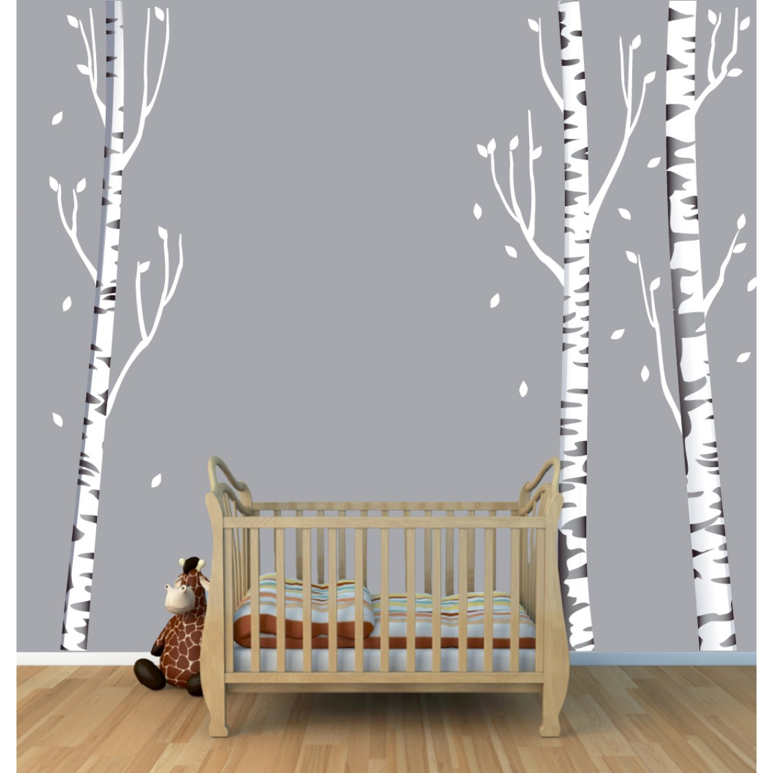Tree Wall Art With Birch Decals For Kids Rooms